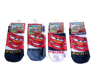 Disney Pixar Cars Lightning Mcqueen Kids Boys Socks 6 PAIR 6 8 NEW