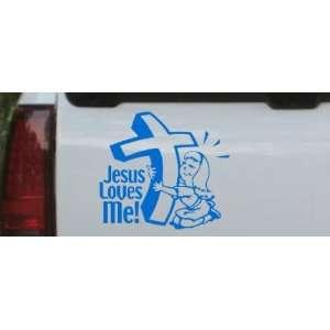 Jesus Loves Me (Girl) Christian Car Window Wall Laptop Decal Sticker