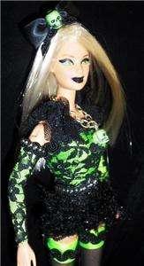 Gothic Beauty barbie doll ooak gothic fishnet stockings like gothic