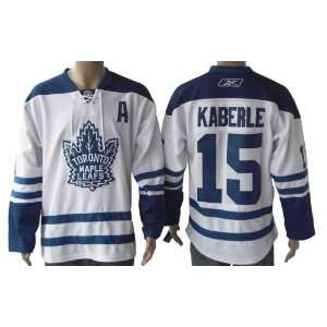 New Toronto Maple Leafs Jersey #15 Kaberle White Hockey