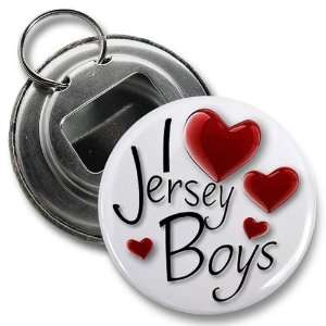 Jersey Shore Boys 2.25 Inch Button Style Bottle Opener With Key Ring