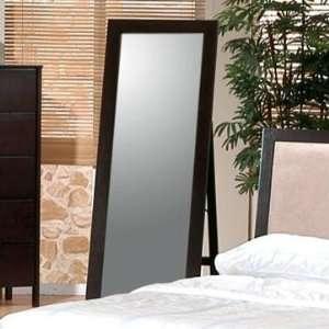 Cappuccino Floor Standing Mirror   Coaster 300004