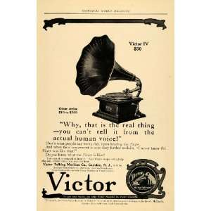 1909 Ad Victor IV Talking Machine Nipper Pricing Camden   Original