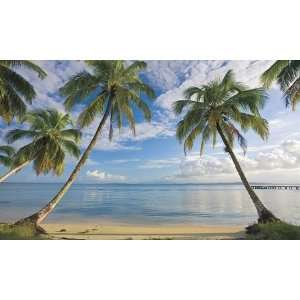 Beach View XL Wallpaper Mural Wall Decals In Roommates