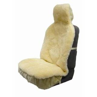 Eurow Sheepskin Sideless Seat Cover New Design   Cream