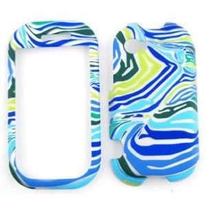 Sharpe Kin 2 Blue/Green Zebra Print Hard Case/Cover