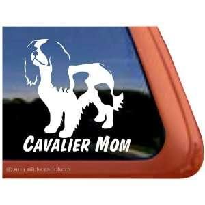 Cavalier Mom Vinyl Window Dog Decal Sticker Automotive