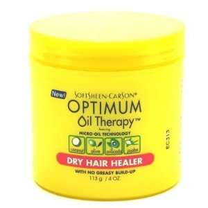 Optimum Oil Therapy Dry Hair Healer 4 oz. Jar (3 Pack) with Free Nail