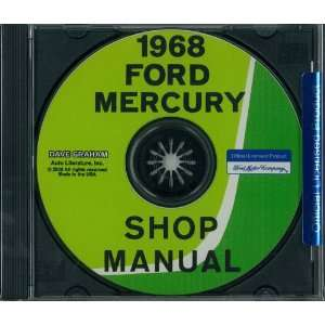 1968 FORD GALAXIE, LTD, MERCURY Shop Service Manual Book