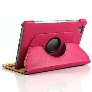 Pink / PU Leather Flip Stand Case for Galaxy Tab GT P6800