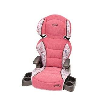Evenflo Big Kid Booster Car Seat, Colonnade Red Baby