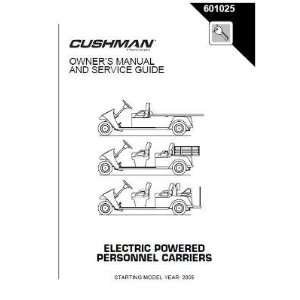 Service Guide for Cushman Electric Personnel Carriers Patio, Lawn