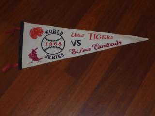VINTAGE 1968 TIGERS VS CARDINALS WORLD SERIES PENNANT