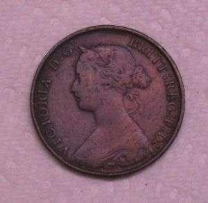 1861 UK Great Britain Half Penny Victoria AU   MS