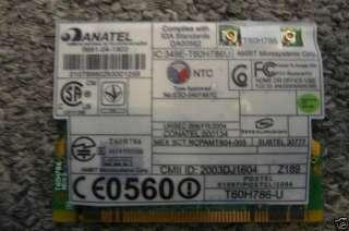 IBM T41 T42 T43 WIRELESS WIFI CARD 39T0081 802.11B/G
