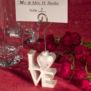 LOVE Design Place Card Holders Wedding Bridal Shower Party Favors