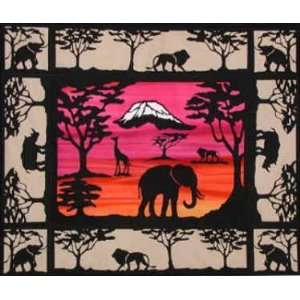 SERENGETI SILOUETTE LASER CUT FUSIBLE APPLIQUES Arts, Crafts & Sewing