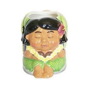 Hawaiian Coffee Mug Vintage Kissing Doll Girl Mug Kitchen & Dining