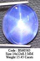 14x12 mm Blue Star Sapphire 6 Rays BS49909 (Lab) VIEW VDO