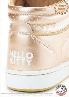 Sanrio Hello Kitty Ladys High Profile Style Casual Shoes Gold 910677