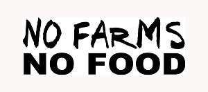 NO FOOD Sticker Car Window Vinyl Decal Dairy Meat Raise Animals Crops