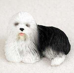 Old English Sheepdog Mini Resin Hand Painted Dog Figurine