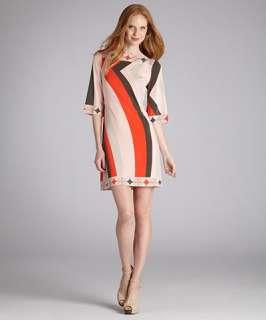 Ali Ro pink abstract mod print jersey shift dress