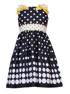 Rare Editions Black White Dots Dress Sz 12 18 24M/7 16