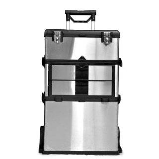 Three Chest Professional Grade Stainless Steel Portable Tool Storage