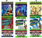 Scooby Dooby Doo Birthday Party Invitations Favors