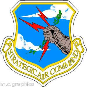 STICKER USAF AIR FORCE STRATEGIC AIR COMMAND