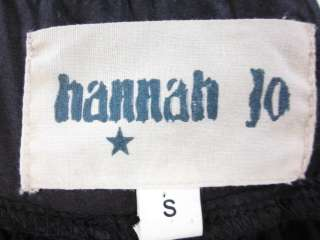 HANNAH JO Black Sequin Short Sleeve Dress Sz S