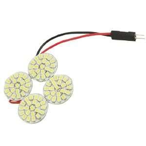 12V 0.63A 7.56W 4 Round White LED Light Bulb Lamp for Car Vehicle
