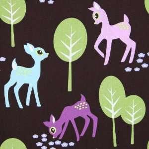 Michael Miller Pet Deer Brown Fabric by the Yard: Arts