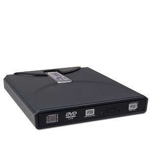 8x USB 2.0 Ultra Slim External DL DVD±RW Drive (Black) Electronics