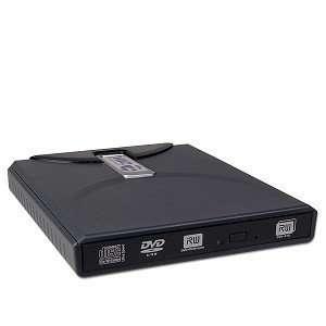 8x USB 2.0 Ultra Slim External DL DVD±RW Drive (Black) Electronics