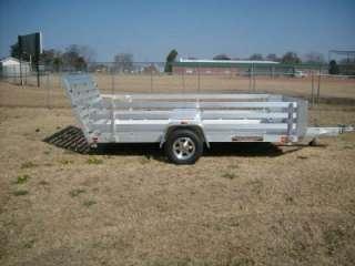 2012 77 x 12 Cargo Aluminum Utility Trailer aluma 7712 with side rail