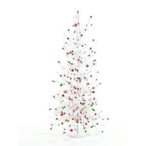 Pack of 2 Candy Crush Snowy Shiny Berry Artificial Christmas Trees 2.5