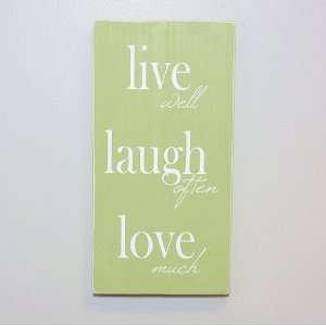 Live, Laugh, Love LDS Plaque with Easel