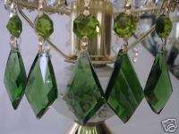 GREEN CRYSTAL GLASS LAMP CHANDELIER KITE PRISM 5