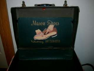 Old Mason Shoes Salesman Case Velvet eez Air Cushioned