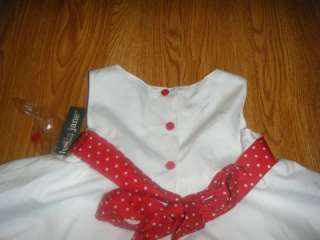 GIRL 2T DRESS HOLIDAY PAGEANT WHITE RED VALENTINES DAY LYDIA JANE NEW