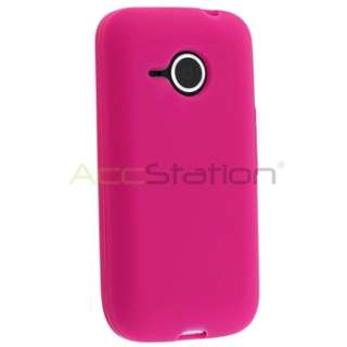 +Pink+Purple Silicone Rubber Gel Case Cover For HTC Droid Eris