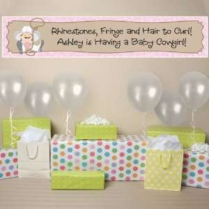 Banner   Little Cowgirl Personalized Baby Shower Banner
