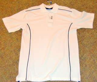 & Bucks New Wave brand Golf Polo Shirt White S/S *Athletic Cut