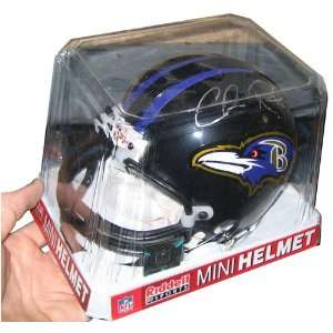 NFL Football Mini Helmet by Riddell   AUTOGRAPHED by Chris Redman (BR