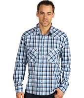 Rock N Roll Cowboy   Long Sleeve Snap Shirt With Contrast Cuffs