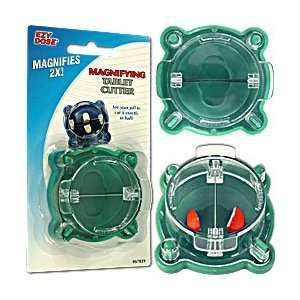 New Trademark Ezy Dose Magnifying Pill Cutter Green
