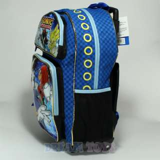 Sonic the Hedgehog and Friends 16 Large Roller Backpack   Bag School
