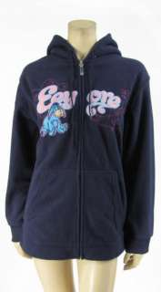 Disney Eeyore Fleece Hoodie Zip Sweatshirt Jacket Navy Plus Size XL